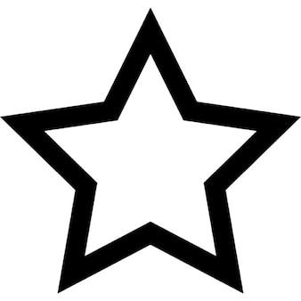 Cinco contorno estrella señalada
