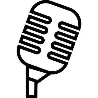 Condensador profesional micrófono muestra