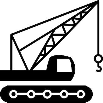 Construcción de la máquina vista lateral con la grúa