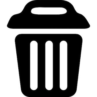 Contenedor de basura con tapa