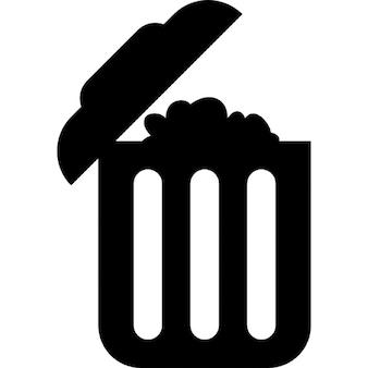Contenedor de basura lleno