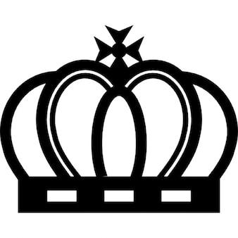 Corona real de diseño elegante de la vendimia