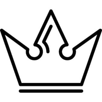 Corona real de un rey