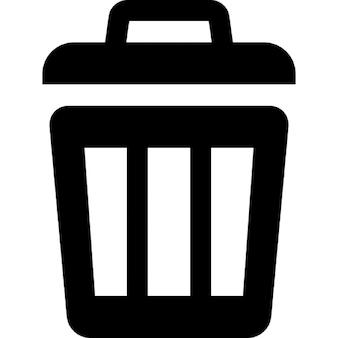 Cubo de basura un poco abierta