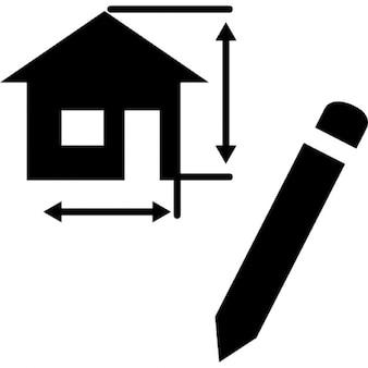 Dibujo proyecto de arquitectura de una casa