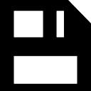 Disquete guardar símbolo interfaz