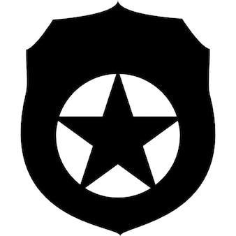 Distintivo de seguridad con la estrella fivepointed