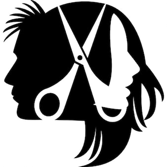 Encabeza pelos y tijeras