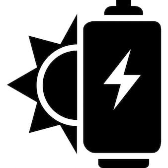 Energía solar ecológica para una batería