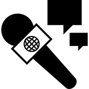 Entrevista con micrófono