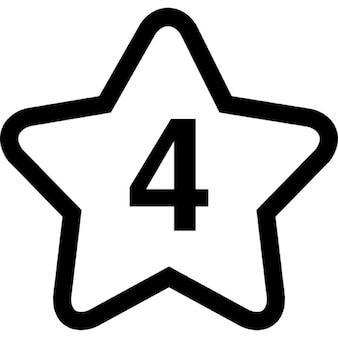 Estrella con el número 4