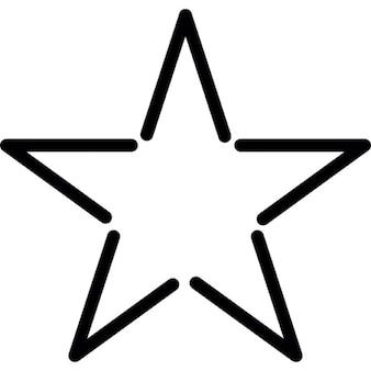 Estrella de contorno de la forma fivepointed en blanco