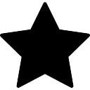Estrella forma rellena fivepointed