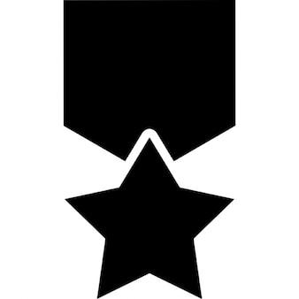 Estrella que cuelga de un Ribon