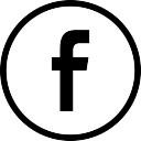 Facebook logo en el botón circular esbozó social símbolo