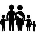 Familia de seis incluyendo un bebé