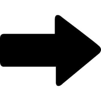 Flecha derecha audaz, ios 7 Símbolo