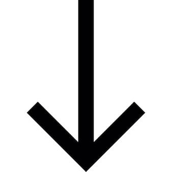 Flecha hacia abajo a la parte inferior, iOS símbolo interfaz 7