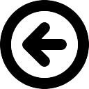 Flecha izquierda Botón