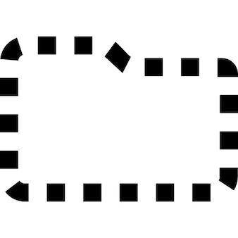 Forma de carpetas de línea discontinua