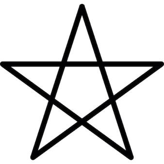 Forma de estrella de cinco puntos