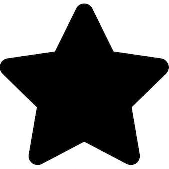 Forma de Estrella fivepointed negro