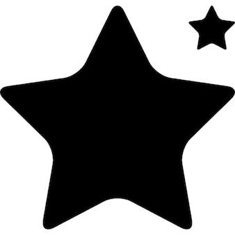 Forma de estrella grande y pequeño