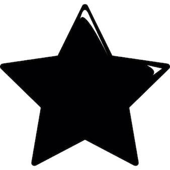 Forma de estrella sólida de cinco puntos