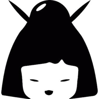Geisha. mujer japonesa