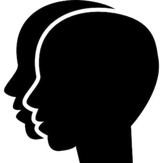 Géminis dos gemelos cabezas símbolo
