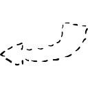 Gire a la derecha con línea discontinua