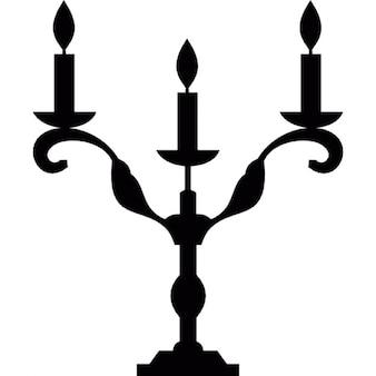 Halloween candelabro de tres velas