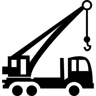Herramienta de transporte de la construcción con una grúa