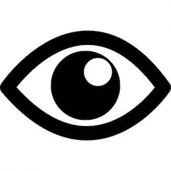 Imagen del ojo con la pupila blanca