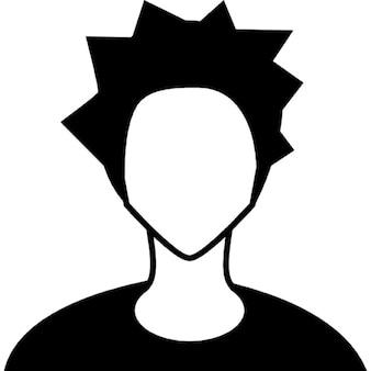Joven punk cabeza
