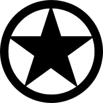 La estrella dentro de un círculo, versión fivepointed