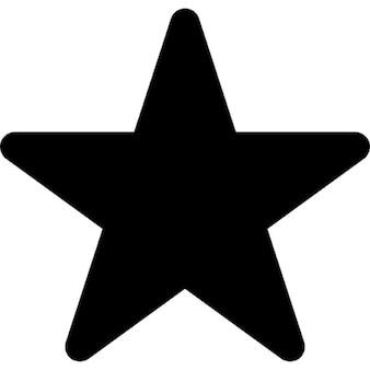 La estrella en negro de cinco puntas forma