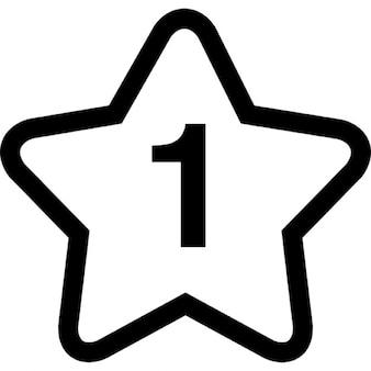 La estrella para el número uno