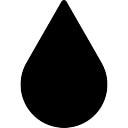 La gota de agua de cerca