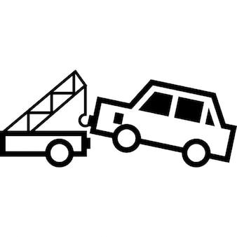 La grúa del coche