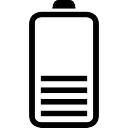 La mitad de la batería de estado símbolo interfaz de líneas