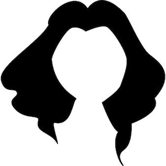 Largo y negro pelo de la forma femenina