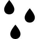 Las gotas de lluvia
