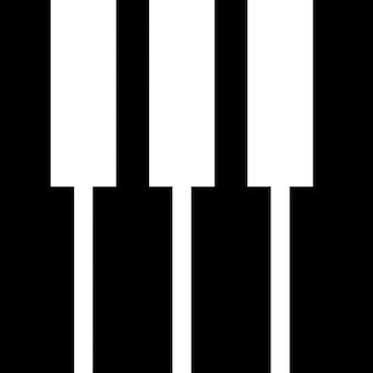 Las teclas del teclado de piano silueta