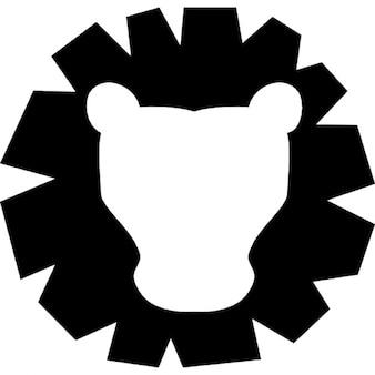 Leo símbolo delante la cabeza de signo del zodiaco