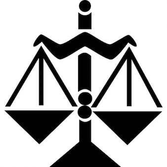 Libra símbolo de la balanza equilibrada