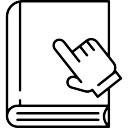 Libro con el cursor