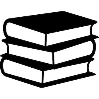Libros de pila de tres