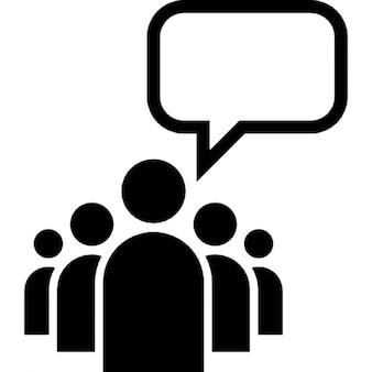 Líder de un grupo con una burbuja de discurso vacío
