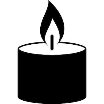 Llama ardiente vela